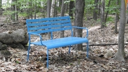 A Blue Bench Appears